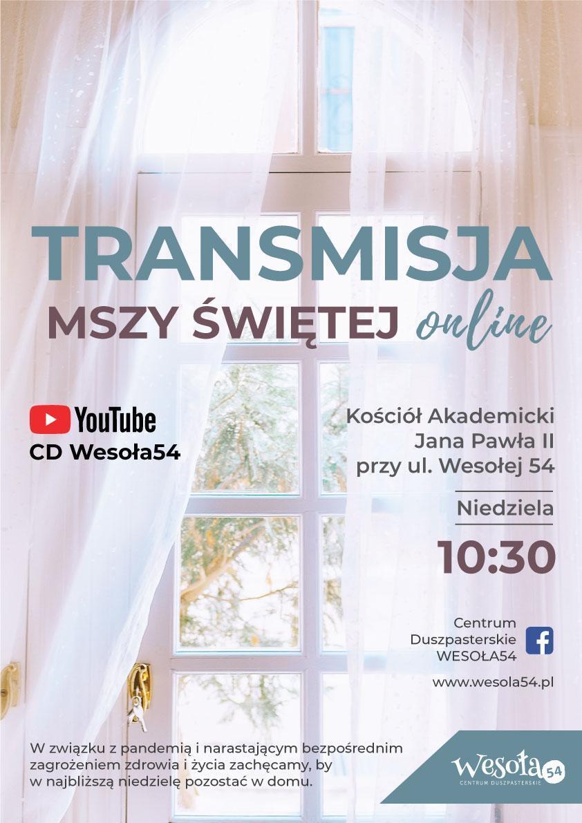 Transmisja Mszy Świętej online